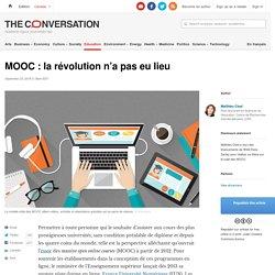 MOOC : la révolution n'apas eu lieu