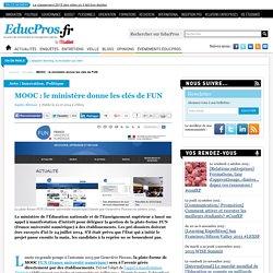 MOOC : le ministère donne les clés de FUN