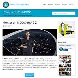 Monter un MOOC de A à Z
