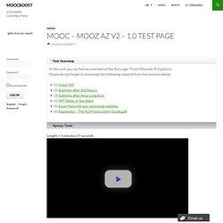 MOOC – MOOZ AZ V2 – 1.0 TEST PAGE