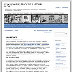 Lisa's (Online) Teaching Blog » Blog Archive » Got MOOC?