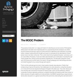 The MOOC Problem