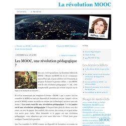 Les MOOC, une révolution pédagogique ?