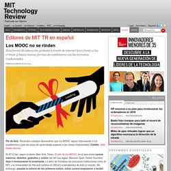 Los MOOC no se rinden - MIT Technology Review