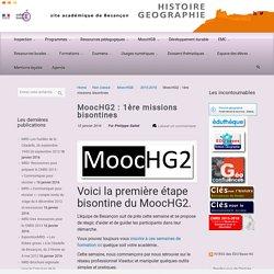 MoocHG2 : 1ère missions bisontines
