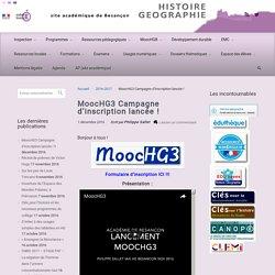 MoocHG3 Campagne d'inscription lancée !