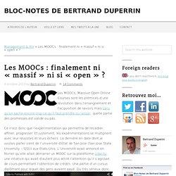 """Les MOOCs : finalement ni """"massif"""" ni si """"open"""" ?"""