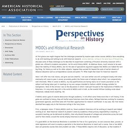 MOOCs and Historical Research