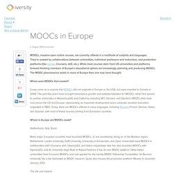 MOOCs in Europe - iversity Blog