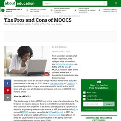 Pros and Cons of MOOCs - Massive Open Online Courses