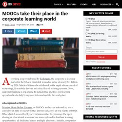 MOOCs take their place in the corporate learning world