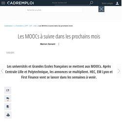 Les MOOCs à suivre dans les prochains mois