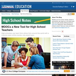 MOOCs a New Tool for High School Teachers
