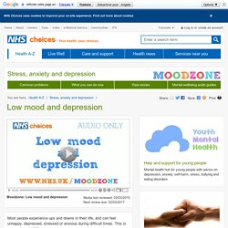 Low mood and depression - NHS Direct