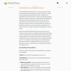 Mood Chart, Mood Journal, Mood Tracker – Free, Online