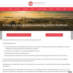 A step-by-step guide to weaving online feedback
