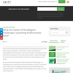 What Are Some of the Biggest Challenges eLearning Professionals Face?