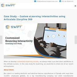 Case Study – Custom eLearning Interactivities using Articulate Storyline 360