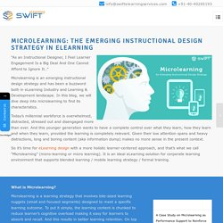 Microlearning best Instructional design strategy in elearning