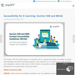 What Does Section 508 and WCAG standards for Your eLearning?