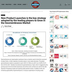 New Product Launches is the key strategy adopted by the leading players to Grow in the Geomembranes Market