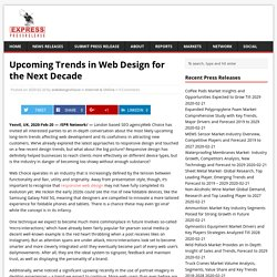 Upcoming Trends in Web Design for the Next Decade