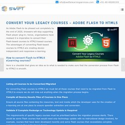 How to Convert Flash to HTML5 eLearning Courses? A Checklist to Follow