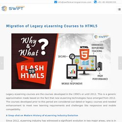 Migration of Legacy eLearning Courses to HTML5