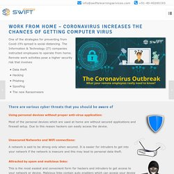 Need of the hour - Cybersecurity for Your Remote Employees Due to Coronavirus