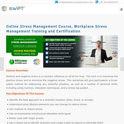 Online stress management course, Training and Certification