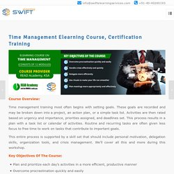Time Management Elearning Course, Certification Training
