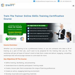 Train The Trainer Online Skills Training Certification Course