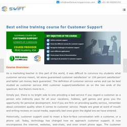 Best online training course for Customer Support