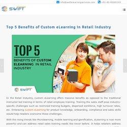 Custom eLearning Development Solutions For Retail Sales Training
