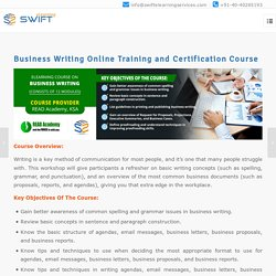 Business Writing Online Training and Certification Course