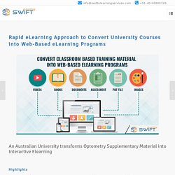 eLearning Case Study: Convert University Courses to Web-Based eLearning Programs