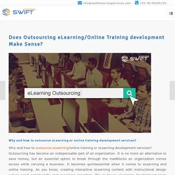 Outsourcing eLearning Development Services for Training Programs