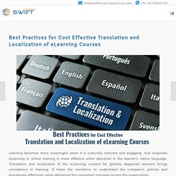 Best Practices for Cost Effective Translation and Localization of eLearning Courses