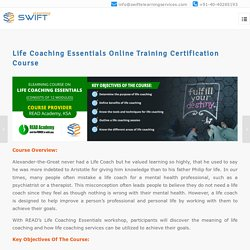 Life Coaching Essentials Skill Training Certification Course