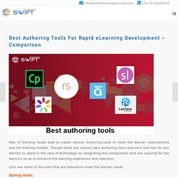 Best Authoring Tools For Rapid eLearning Development – Comparison