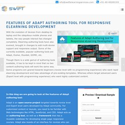 Features of adapt authoring tool for responsive elearning development