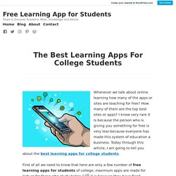 The Best Learning Apps For College Students