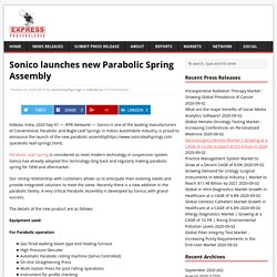 Sonico launches new Parabolic Spring Assembly