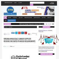 Virginia Wholesale Lumber Supplier Reviews Fire Rated Plywood Requirements