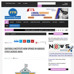 DAFFODILS INSTITUTE NOW OPENED IN VARIOUS CITIES ACROSS INDIA