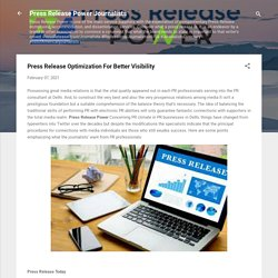 Press Release Optimization For Better Visibility