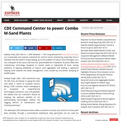 CDE Command Center to power Combo M-Sand Plants