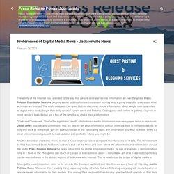Press Release Distribution Jacksonville News - +1 646 204 3425