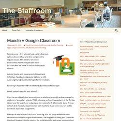 Moodle v Google Classroom