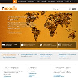 Moodle - open-source e-learning